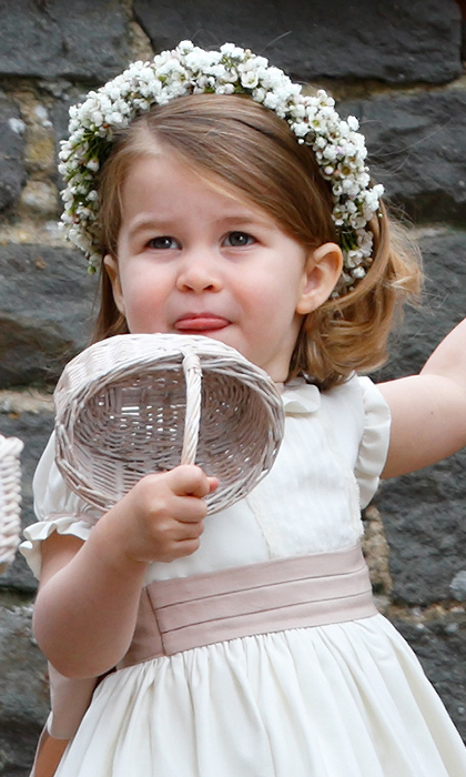 "Following the adorable family trend, Princess Charlotte stuck her tongue out at St Mark's Church in 2017 while playing bridesmaid at auntie <strong><a href=""/tags/0/pippa-middleton"">Pippa Middleton</a></strong>'s wedding.