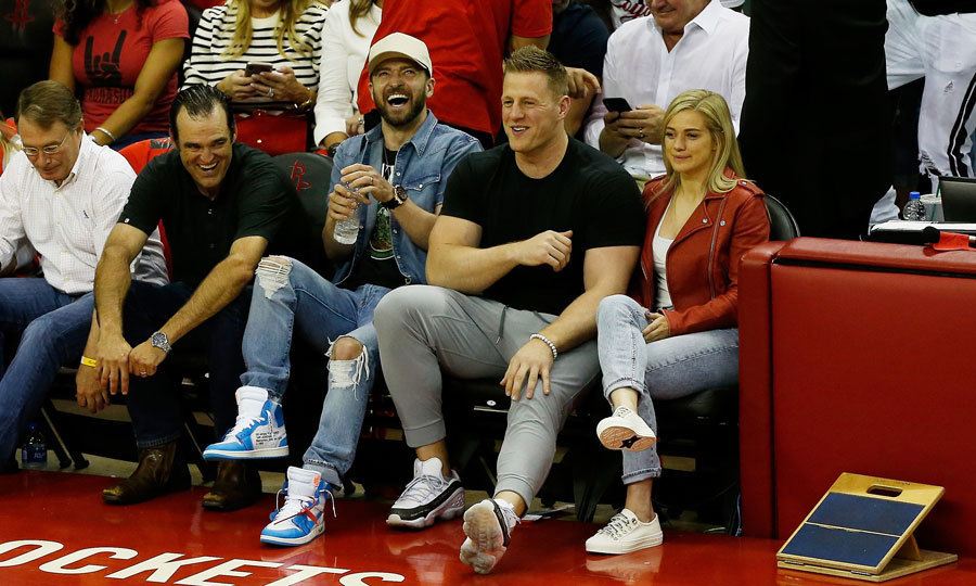 <p>Justin Timberlake decided to take a break from his <em>Man of the Woods</em> tour to enjoy a game of basketball. He got to sit court side at the Houston Rockets and the Golden State Warriors championship game in Houston.