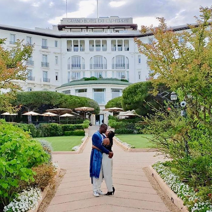 "<p>Picture perfect! Gabrielle Union and Dwyane Wade shared a romantic smooch in France. The couple continued their #WadeWorldTour at the Grand-Hotel du Cap-Ferrat, A Four Seasons Hotel. ""Living for the #WadeWorldTour2018 this weekend thanks to @bookingcom  #BookingYeah #BookingPartner.""