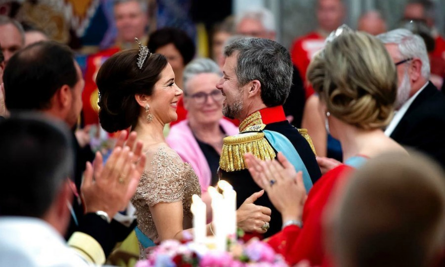 Frederik and Mary looked very much in love as they celebrated the Prince's big 5-0.