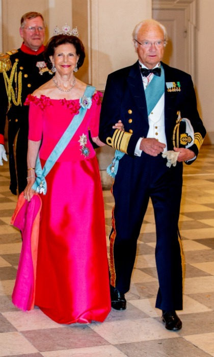 Victoria's parents King Carl Gustaf and Queen Silvia were also in attendance, looking as regal as ever.