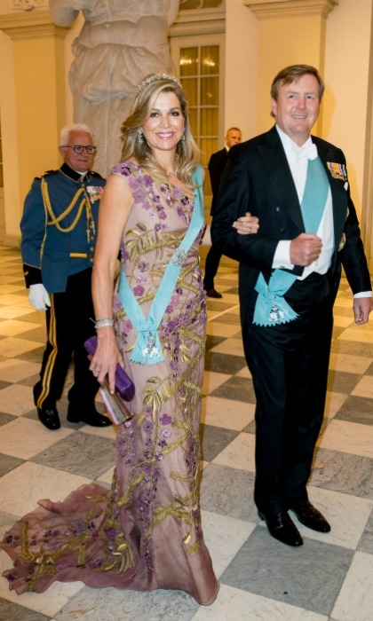 King Willem-Alexander and Queen Maxima of the Netherlands followed their glamorous state visit to Luxembourg with a stop at the glitzy party.