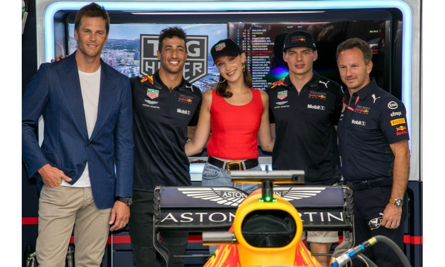 The star previously posed with Tom Brady and Daniel Ricciardo, among others.