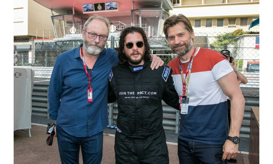 Game of Prix! Kit wasn't the only <em>Game of Thrones</em> actor in attendance, as he went to the booming event with his co-stars Liam Cunningham and Nikolaj Coster-Waldau.