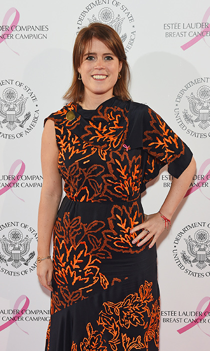 <p>Princess Eugenie dazzled in orange and black for the 25th Anniversary of the Estee Lauder Companies UK's Breast Cancer Campaign on Oct. 9, 2017.