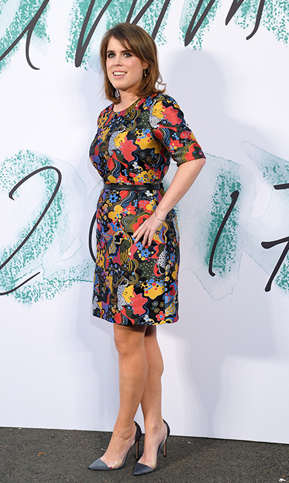 <p>Eugenie loves a good floral and so do we! And did you catch a glimpse of those cool pumps? The royal was attending an event at The Serpentine Gallery.