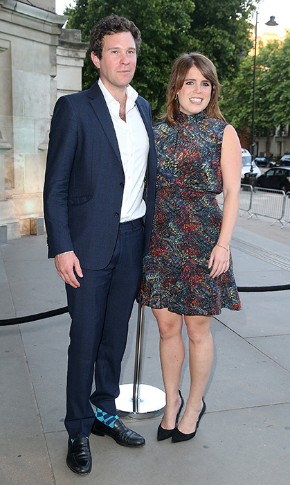 <p>Eugenie and her fiancé looked like a dashing couple while attending the V&A summer party on June 21, 2017.
