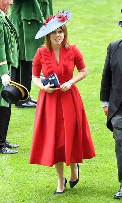 <p>A beauty in red! The princess stunned in the vibrant hue for Ladies Day of Royal Ascot 2017 on June 22, 2017.