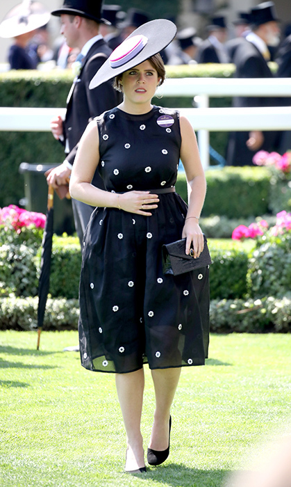 <p>Polka dots forever! Eugenie rocked yet another amazing look for the Royal Ascot in 2017.