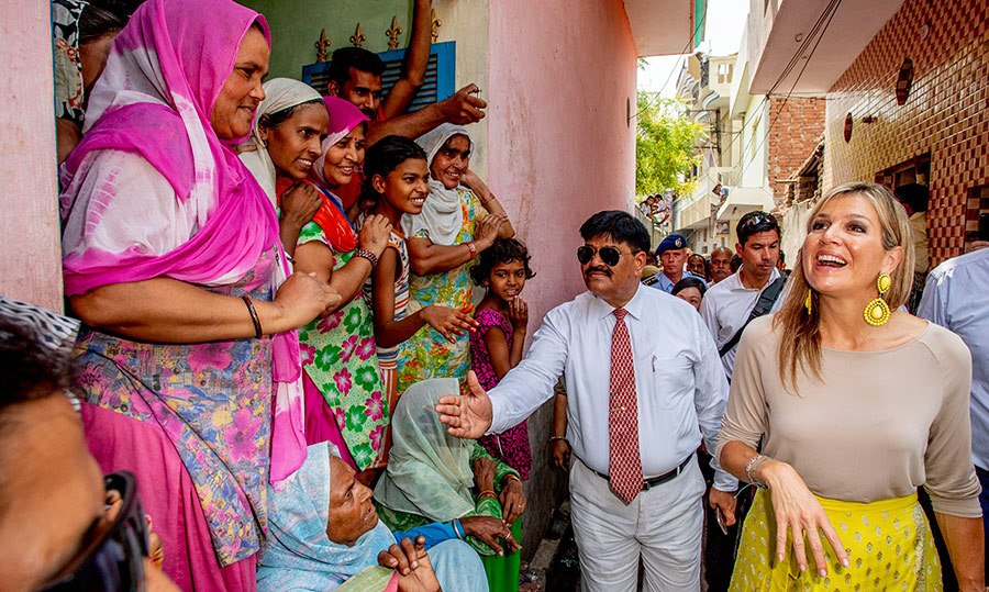 <p>While walking through the colourful streets of Meerut, India, the 47-year-old royal graciously greeted people who lined the streets to see her.