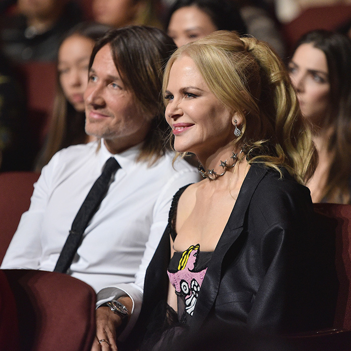 <p>Just like a couple of high school sweethearts! The too-cute couple attended the Glamour awards in Brooklyn in November 2017, where the actress was honoured as Woman of the Year - and kept the auditorium's chill at bay in her hubby's jacket. 