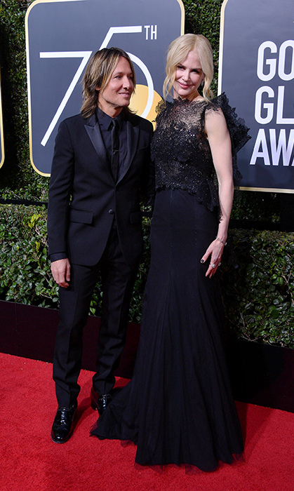 <p>Keith only had eyes for his wife of more than a decade at the 2018 Golden Globes, where the stylish pair were both dressed in black.