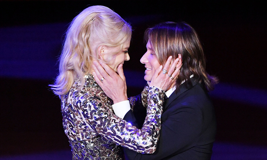 <p>Nicole Kidman and Keith Urban easily take home the most loved-up couple award every time they step out! Before performing onstage at the Lincoln Center during the American Songbook Gala, Nicole stepped out to give her hubby a good luck smooch.