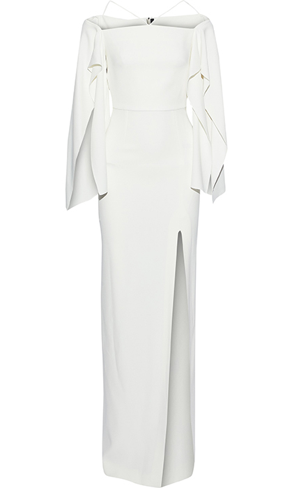 "<strong>Roland Mouret Cheveley Cold-Shoulder Crepe Gown, $2,255, <a href=""https://www.theoutnet.com/en-ca/shop/product/gowns_cod82673812054035.html#dept=AM_Evening_DRESSES_CLOTHING"">theoutnet.com</strong></strong>"