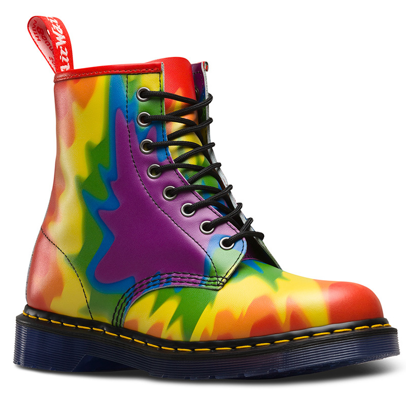 "A portion of the proceeds from this bright twist on the brand's classic boot goes to <a href=""https://www.thetrevorproject.org/#sm.000j52x561c5zfjeqb9189uswfqsf"">The Trevor Project</a>, a U.S.-based organization that focuses on crisis intervention and suicide prevention within LGBTQ youth community.