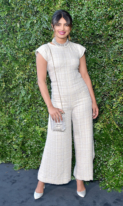 Priyanka Chopra continues to prove time and time again that she is a fashion force to be reckoned with. She looked elegant as ever in a cream Chanel jumpsuit.