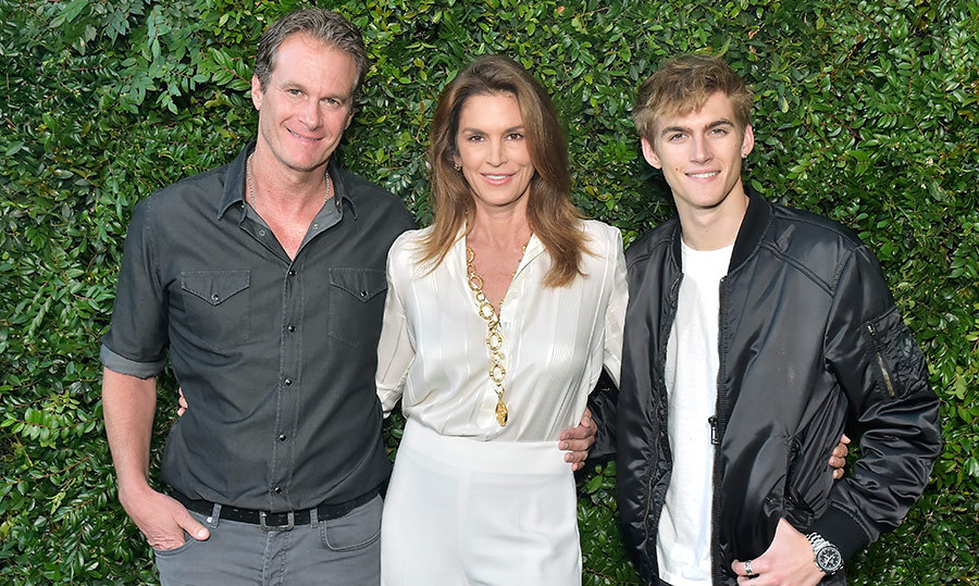 We love some good old family time with the Gerber-Crawfords! Rande Gerber, Cindy Crawford and Presley Gerber were at the Chanel benefit, too. 