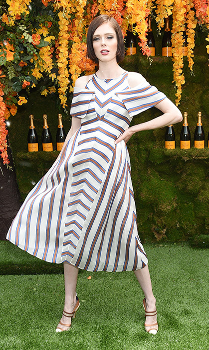 Coco Rocha served some looks in New Jersey at the 11th annual Veuve Clicquot Polo Classic at Liberty State Park on June 2.