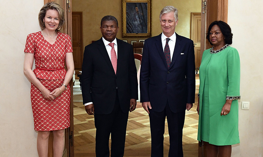 King Philippe and Queen Mathilde welcomed Angola's President Joao Lourenco and his wife Ana Dias Lourenco to the Royal Palace in Brussels on June 4.