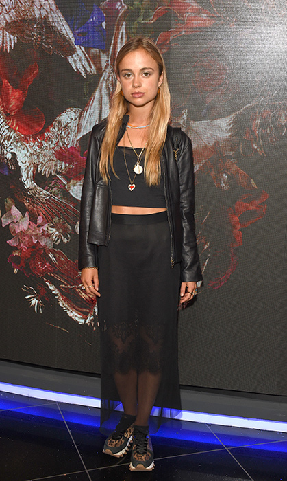 Looking rocker chic, Lady Amelia Windsor stopped for photos at the UK Premiere of <em>McQueen</em> at Cineworld Leicester Square on June 4. The royal paired leopard-print sneakers with an all-black ensemble for the perfect elegant-yet-grunge look.