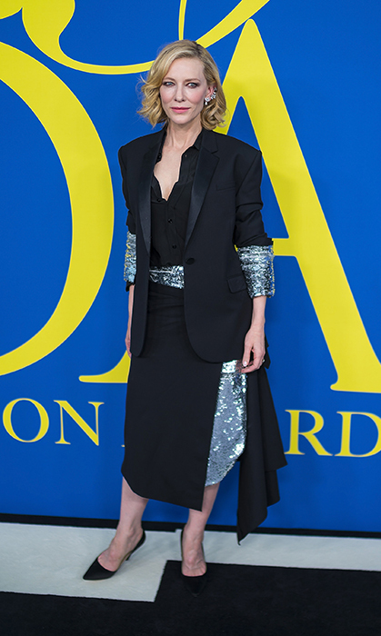 Cate Blanchett brought some glitter to the CFDA Fashion Awards carpet!