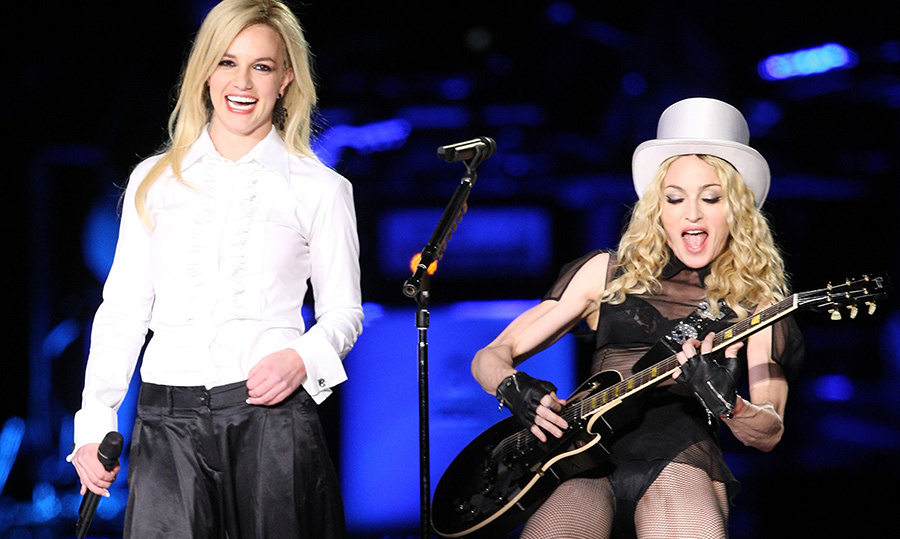 "<strong>Madonna and Britney Spears - ""Me Against the Music""</strong>