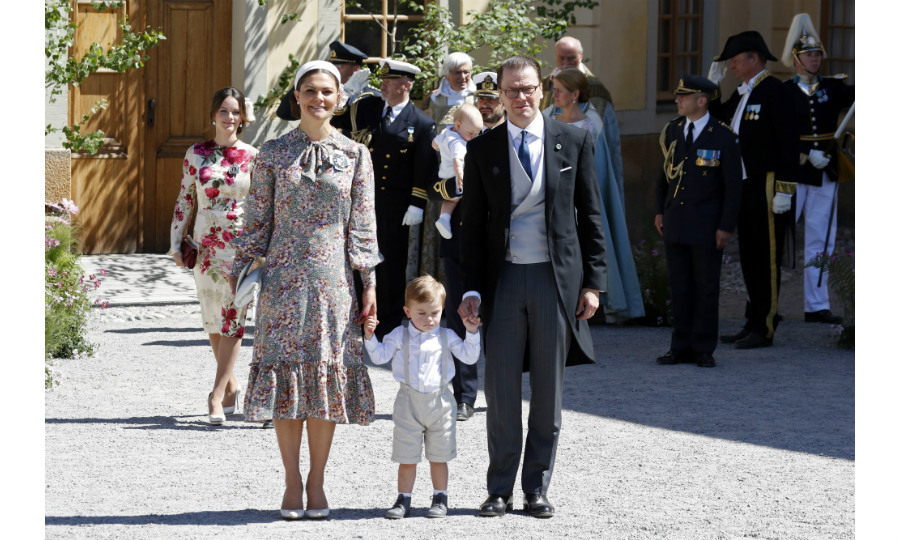 Princess Victoria and her husband Prince Daniel attended the service with their son Prince Oscar. Noticeably absent was their six-year-old daughter Princess Estelle, who reportedly was sick and unable to join her family for the festivities. 