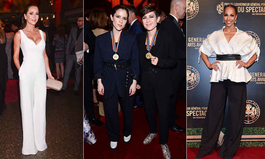 "After accepting their Governor General's Performing Arts Awards from Gov. Gen. Julie Payette, Calgary-born pop duo Tegan and Sara celebrated their medals at a lavish gala at the National Arts Centre in Ottawa. In total, there were nine recipients of Canada's highest honour for the arts – which for the first time in its 26-year history went to more women than men. Performers at the gala, hosted by CBC anchor Heather Hiscox, included husband-and-wife comics Colin Mochrie and Debra McGrath as well as recording artist Lights, whose rendition of Tegan and Sara's chart-topper ""I Was a Fool"" won her a standing ovation. On Twitter, the twin sisters, passionate advocates for social justice and LGBTQ rights, reacted to the recognition: ""An incredible moment. Can't say enough how honoured we were.""