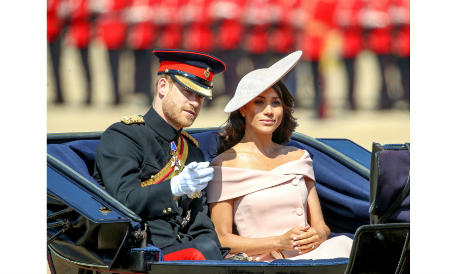 The newlyweds! Just a few weeks after they tied the knot at Windsor Castle, Prince Harry and Meghan Markle made their Trooping the Colour debut. 