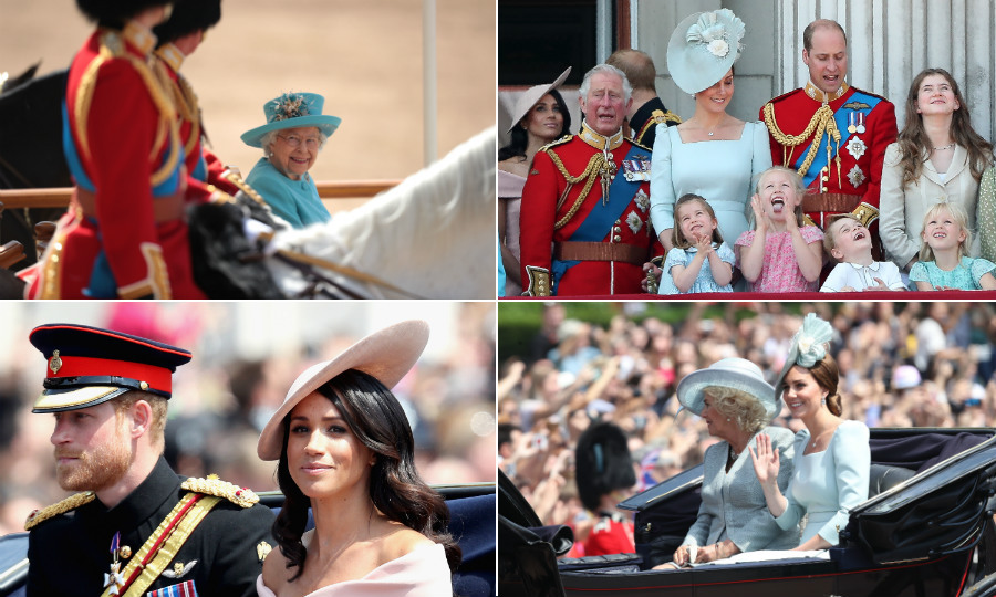 Happy Birthday Your Majesty! Britain's Royal Family joined forces on Saturday (June 9) to help honour the Queen at her official birthday party – Trooping the Colour. The 92-year-old monarch, who was actually born on April 21, was all smiles as she greeted the crowds along The Mall, despite not having her loving husband Prince Philip by her side. 
