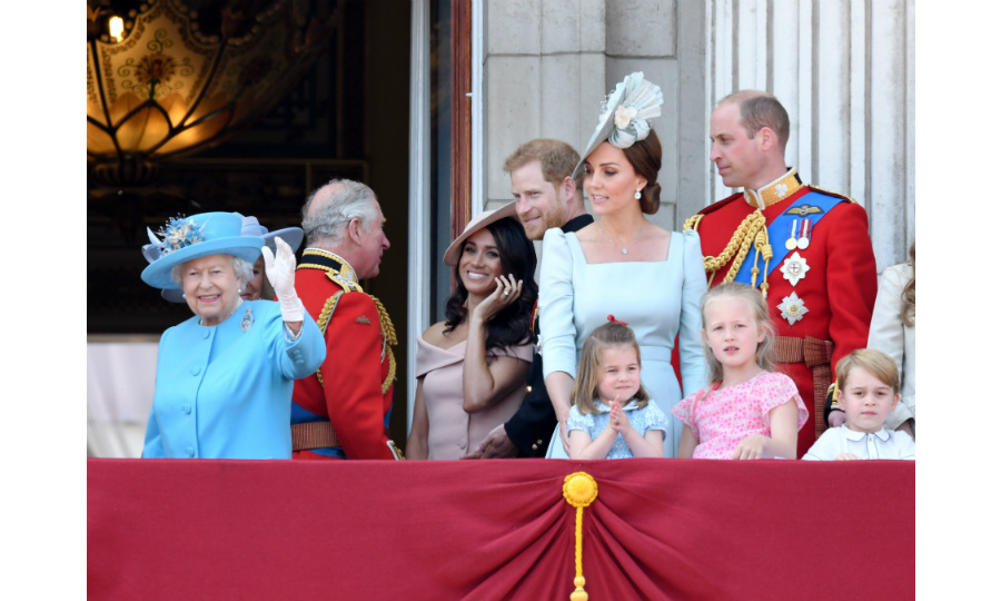 That's a wrap! The Queen gives a final wave as this year's Trooping the Colour comes to a close. Meghan appeared to be in great spirits as she aced her first balcony appearance as a member of the Royal Family. 