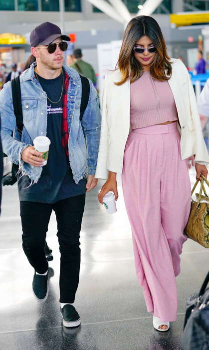 New couple Priyanka Chopra and Nick Jonas were a stylish duo as they made their way through JFK in New York. The two recently enjoyed a date night in L.A. at Toca Madera.