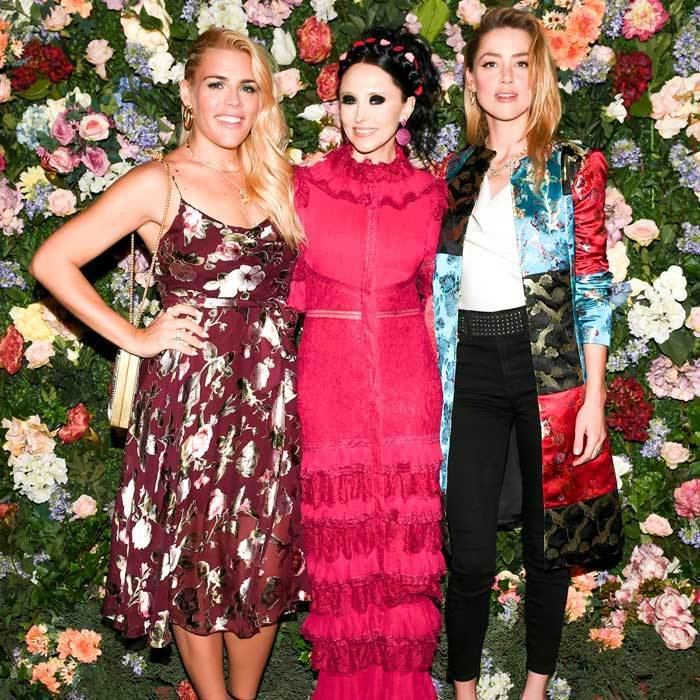 Stacey Bendet had two beautiful accessories at her alice + olivia x Ecco Domani launch at the Bowery Hotel: actresses Busy Philipps and Amber Heard.
