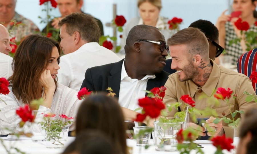 Amid rumors of separation, Victoria Beckham showed up to support her man David Beckham in London on June 10. The designer attended her husband's Kent & Curwen presentation during London Fashion Week. The pair were seen sitting between British Vogue's Edward Enninful.