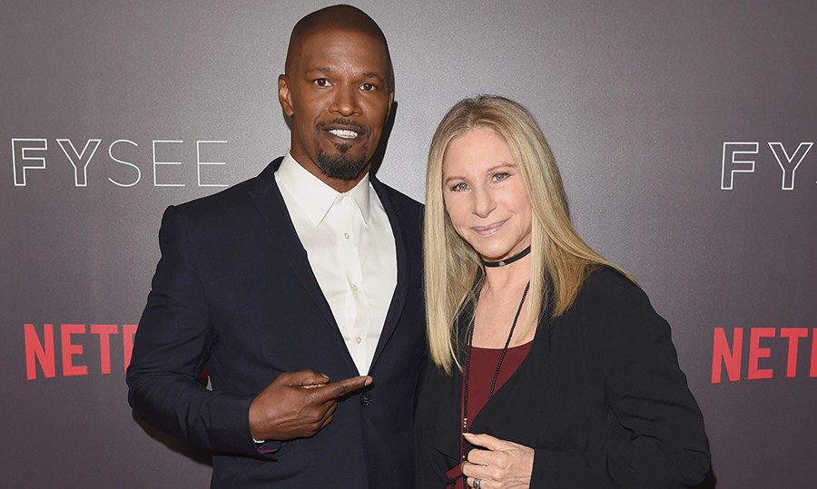 Talk about power duo! Jamie Foxx and Barbra Streisand stopped for photos at their 'In Conversation' event at Netflix's FYSEE on June 10.