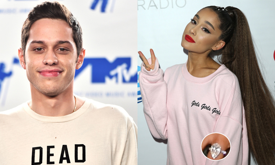 <h2>Ariana Grande and Pete Davidson</h2>