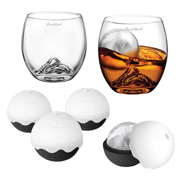 "<strong>On the Rock Glass and Ice Ball Gift Set by Final Touch, $40, <a href=""indigo.ca""><em>indigo.ca</em></a></strong>"