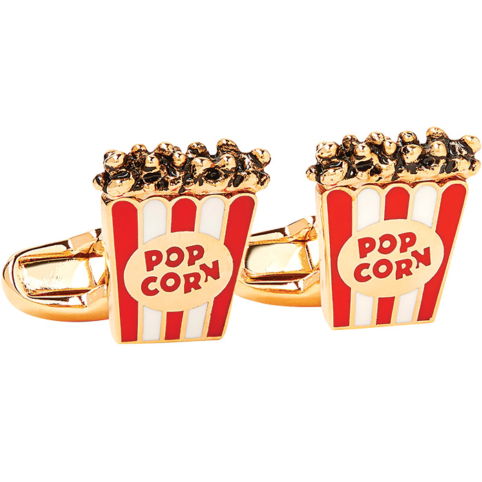 "<strong>Paul Smith Popcorn Cufflinks, $110, <a href=""mrporter.com""><em>mrporter.com</em></a></strong>"