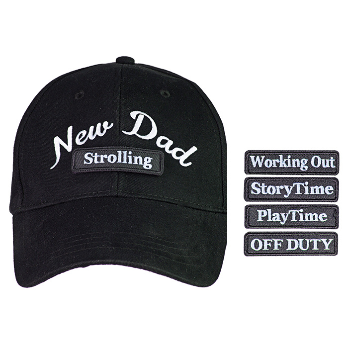 "<strong>Countdowncaps ""New Dad"" 5-in-1 Baseball Cap, $33, <a href=""bedbathandbeyond.ca""><em>bedbathandbeyond.ca</em></a></strong>"