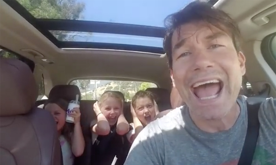 "If there's one thing we know for sure, it's that Jerry has no qualms about owning the embarrassing dad trope! The actor took it upon himself to educate his kids on ""real music,"" belting out the lyrics to Spandau Ballet's ""True."" We're not sure they were into it...