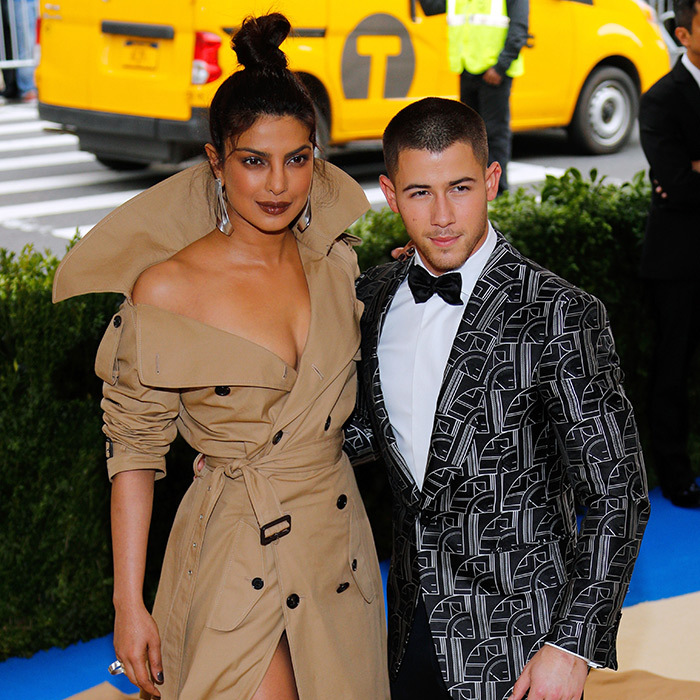 "Priyanka and Nick became fast friends when they were both booked to show off their best Ralph Lauren looks for the 2017 Met Gala. The Indian actress stunned in a glamorous trench coat-style gown, while Nick looked dapper as ever in an abstract patterned blazer. Later in the evening, the Jonas Brothers member shared a private snap of Priyanka, simply captioning it with her first name. The two arrived together at the annual event, though she later told Jimmy Kimmel that it was platonic. ""Yeah, we were on the same table and we already know each other,"" she explained. ""So he was like 'Hey, you wanna go together?' And I was like yeah, OK, let's go together. It ended up working out."" Little did she know...