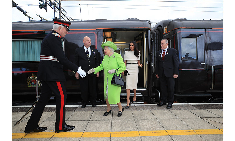 "Royal fans were delighted to see the twosome stepping off the <a href=""https://ca.hellomagazine.com/royalty/02018061345687/queens-royal-train-facts-video"">Royal Train</a> - Her Majesty's personal locomotive, which is only used by the most senior royals and have never been ridden by the <strong>Duke and Duchess of Cambridge</strong> or <strong>Prince Harry</strong>. 