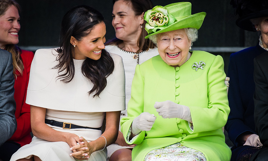 Meghan had the Queen in stitches during their joint engagement.
