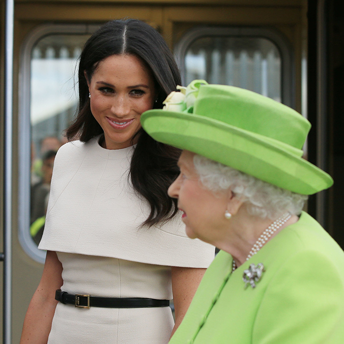 "The Duchess of Sussex was happily learning the ropes from her grandmother-in-law, who guided the new royal through the events of the day. At one point, as they were  getting into a car, Meghan seemed unsure as to who should get in first. ""What is your preference?"" she asked the Queen, to which the monarch replied: ""You go first."" ""Oh OK,"" Meghan replied.