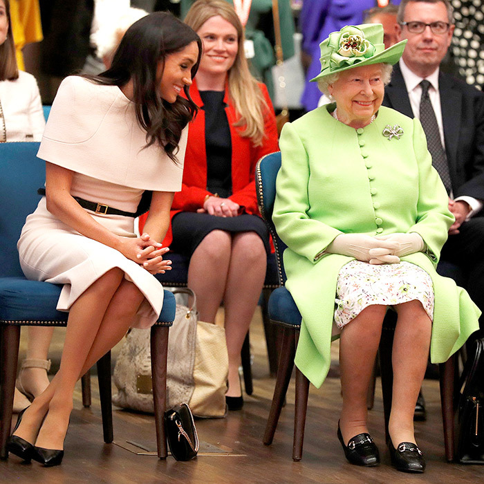 "The royals were beaming in the audience as they watched a performance by Fallen Angels, a dance theatre company for people recovering from addiction. ""Wonderful,"" said the Queen of the organization. ""That must help."" She and Meghan then moved into the theatre to watch actors from Swallow and Amazons and school children perform as well as a medley of songs from Storyhouse's latest production, <em>A Little Night Music</em>.