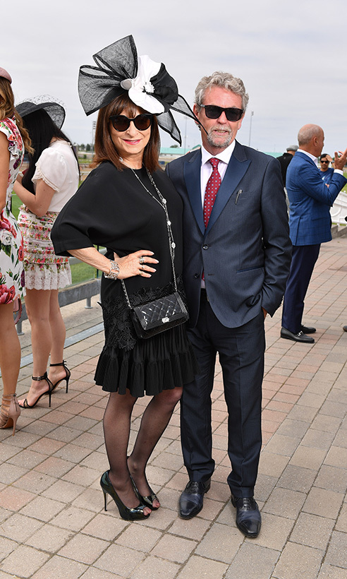 Jeanne Beker and Iain MacInnes