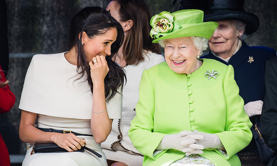 On June 14, 2018 – less than a month after her royal wedding – Meghan, the Duchess of Sussex joined her new grandmother-in-law for their first trip together, to Cheshire, England. The royal pair attended a ceremony to open the new Mersey Gateway Bridge and also visited The Storyhouse and Town Hall.