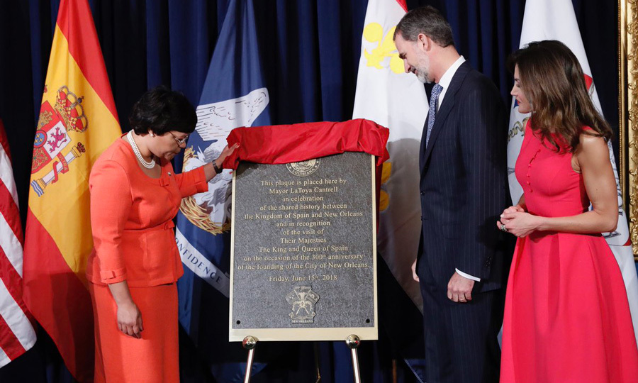 "The royals were also honoured with a plaque. His Majesty said, ""Examining this era highlights just how far back Spain's mark on the United States reaches, and how deep its roots are, as reflected in the close bonds of friendship between our two nations. And it is our hope that, through this visit, these bonds will become even stronger. Because there are solid reasons for them to grow stronger.""