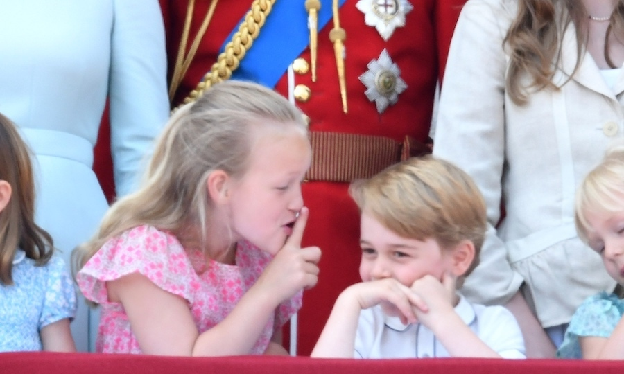 Savannah Phillips stole the show on the balcony of Buckingham Palace when she shushed her cousin Prince George, even going so far as to put her hand over the future king's mouth! 
