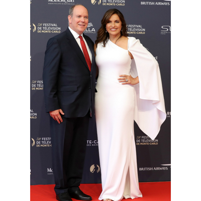 We love when the worlds of royalty and Hollywood collide! Prince Albert presented <em>Law & Order</em>'s leading lady, Mariska Hargitay, with the Crystal Nymph Award, which is given to an actor each year in recognition of their outstanding career.